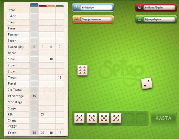 Yatzy casinospel - Spela Spigo spel på nätet