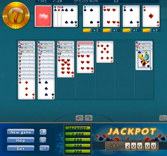 play 7 solitaire on spigo co uk games and friends